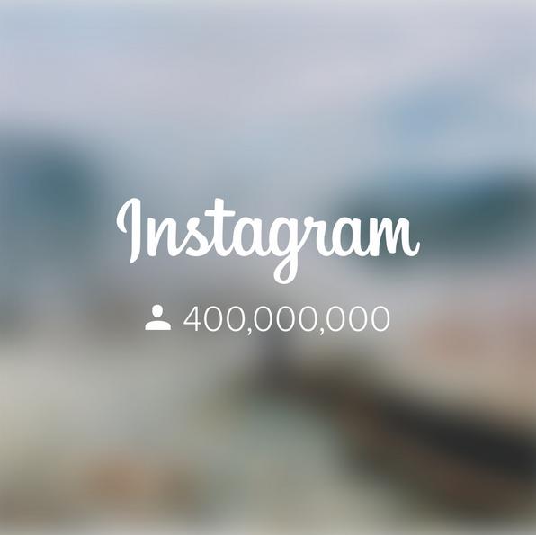 Imagem compartilhada pelo Instagram para anunciar publico de 400 milhões