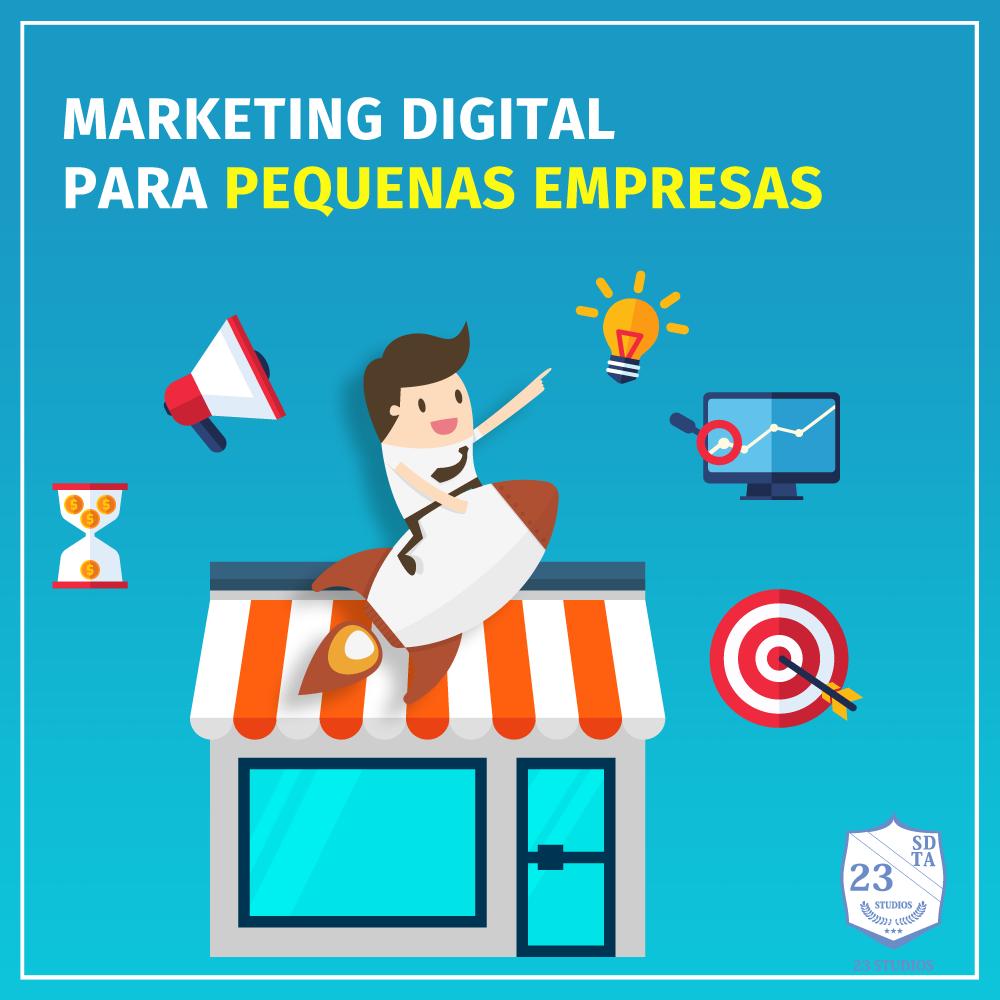 capa marketing digital para pequenas empresas