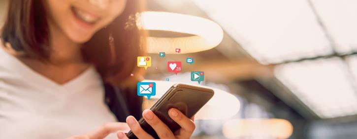 As mídias sociais são plataformas que permitem conexão.