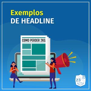 capa exemplos e modelos de headline