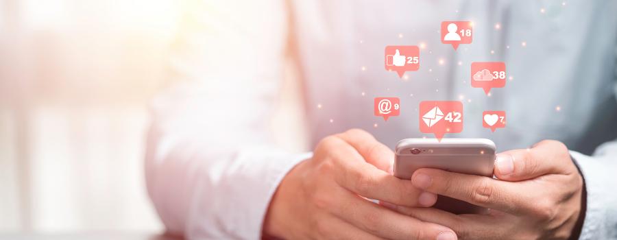 interagir na rede social